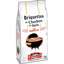 Briquettes de charbon de bois 4 kg Grill O'Bois