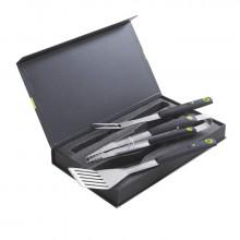 Coffret pince + fourchette + spatule aimantées Cook'In Garden