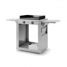 Chariot ouvert pour plancha Forge Adour MODERN 60 Inox