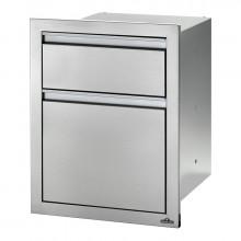 Module encastrable 1 poubelle + 1 tiroir pour cuisine d'extérieur Napoleon