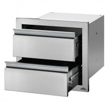 Module encastrable double tiroir pour cuisine d'extérieur Napoleon