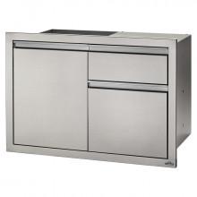 Module encastrable 1 poubelle + 1 tiroir + 1 porte pour cuisine d'extérieur Napoleon