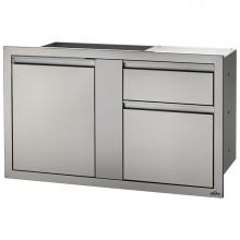 Module encastrable XL 2 tiroirs + 1 porte pour cuisine d'extérieur Napoleon