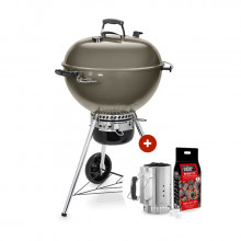 Pack Barbecue Weber Master-Touch GBS ø 57 cm gris + Kit cheminée
