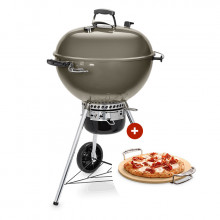 Pack Barbecue Weber Master-Touch GBS ø 57 cm gris + Pierre à Pizza