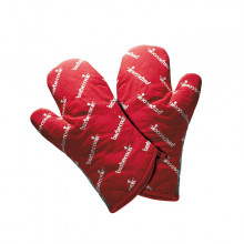Paire de gants courts rouges Barbecook
