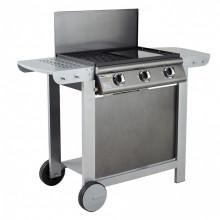 Barbecue à gaz mixte Grill + Plancha Cook'in Garden PUERTA LUNA CONFORT