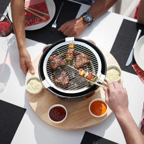 Barbecue de table au charbon Joya Barbecook convivialité