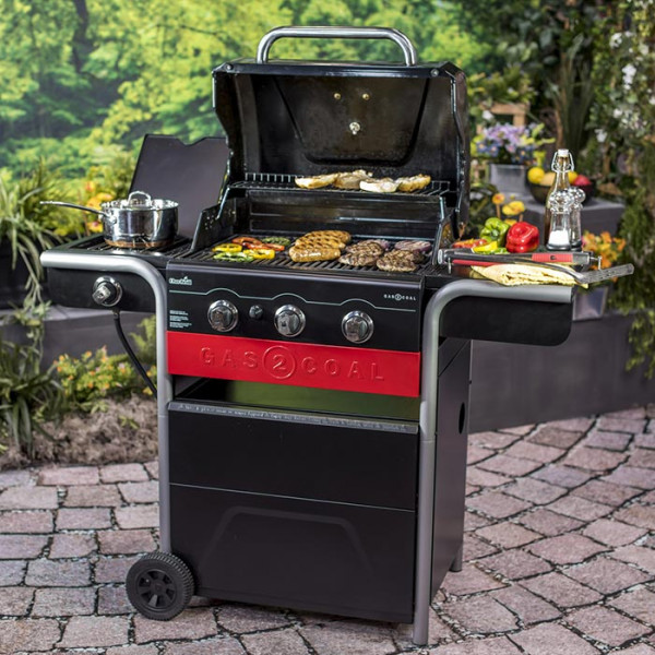 Barbecue au charbon et au gaz CHAR-BROIL Gas2Coal 330