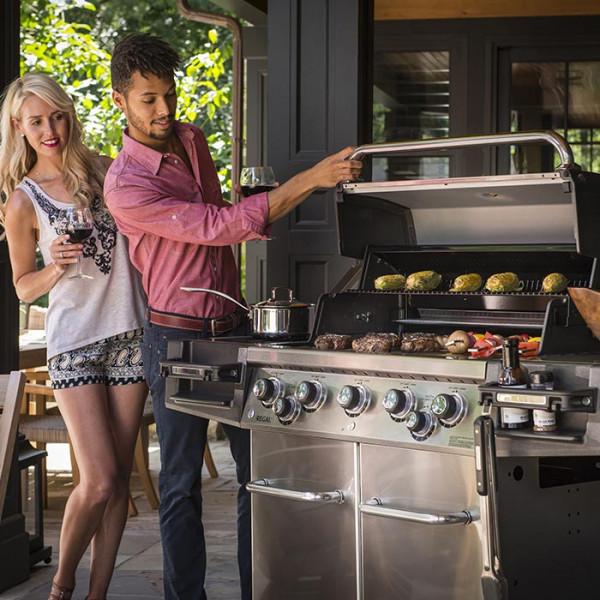 Barbecue à gaz 5 feux Broil King REGAL 590 Pro Inox