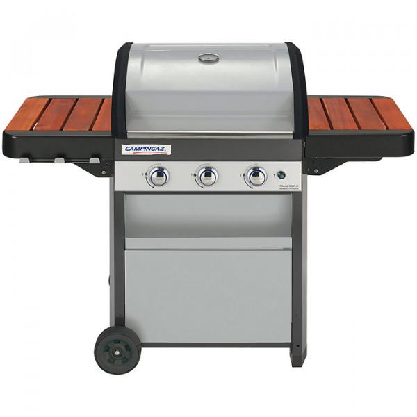 Barbecue à gaz Campingaz Class 3 WLX couvercle fermé bois