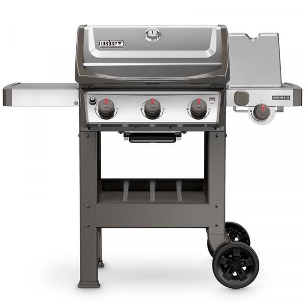 Barbecue à gaz Weber Spirit 2 E-320 Inox avec réchaud latéral