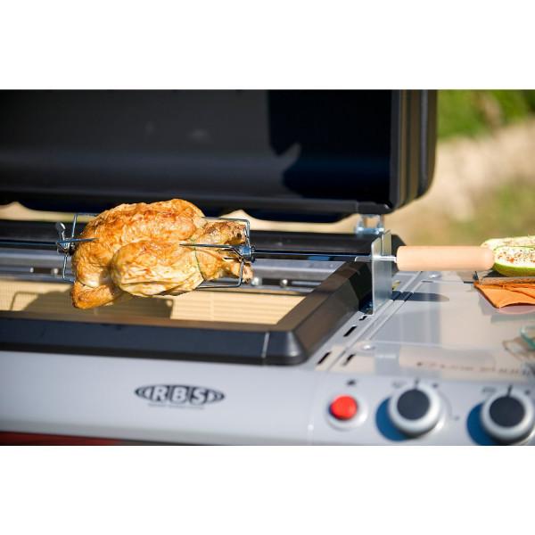 Broche pour Rôtisserie Adaptable sur Barbecue Campingaz