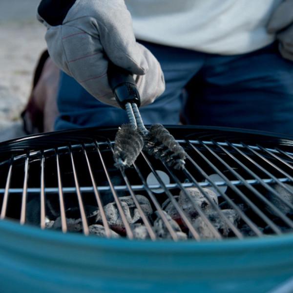 Brosse de nettoyage pour barbecue à deux têtes Weber