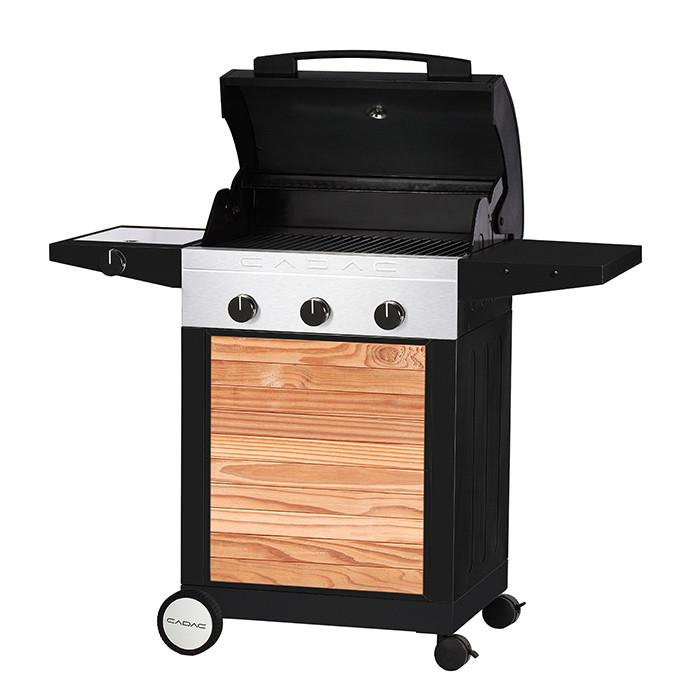 Barbecue à gaz Cadac ENTERTAINER WOODY 3 brûleurs