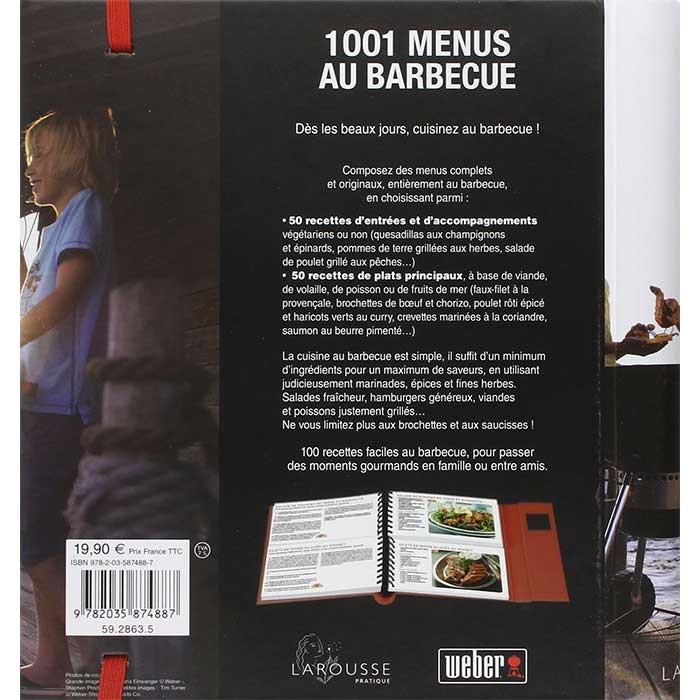 Livre de recettes 1001 menus au barbecue
