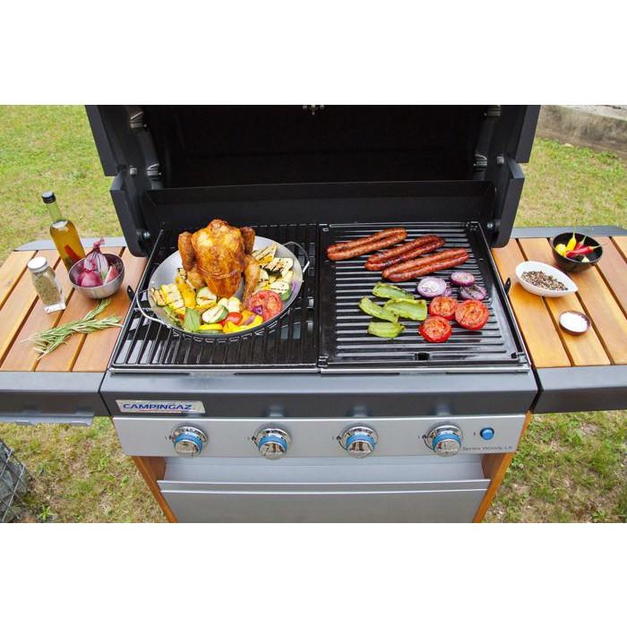 Support pour poulet rôti au barbecue gaz Campingaz