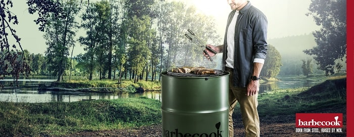 Barbecue tonneau Edson de Barbecook ambiance