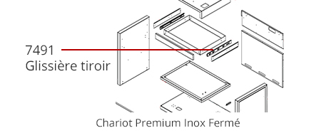Glissière chariot Premium