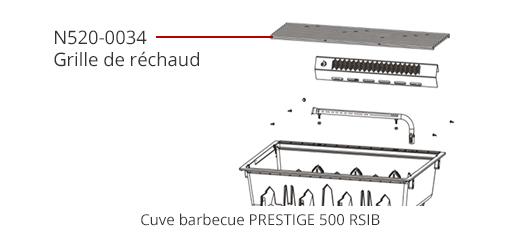 Grille réchaud p500