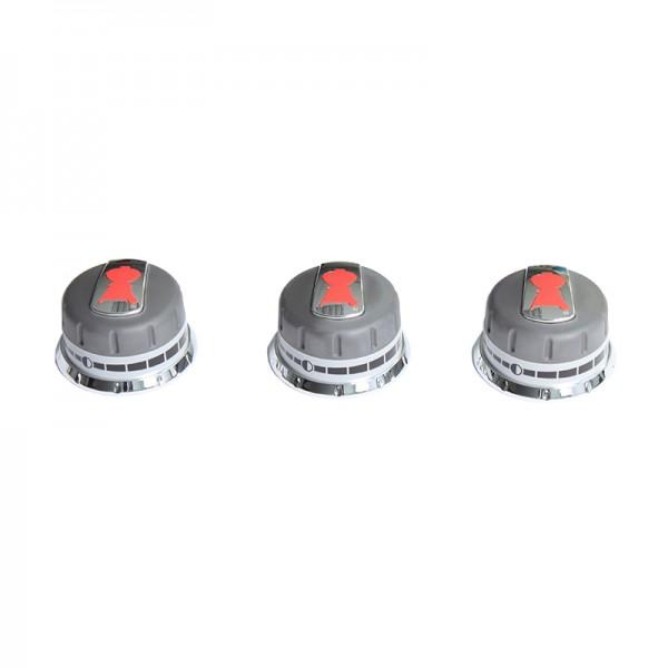 Lot de 3 boutons r glage gaz pour genesis boutons en fa ade accessoires - Pieces detachees weber ...