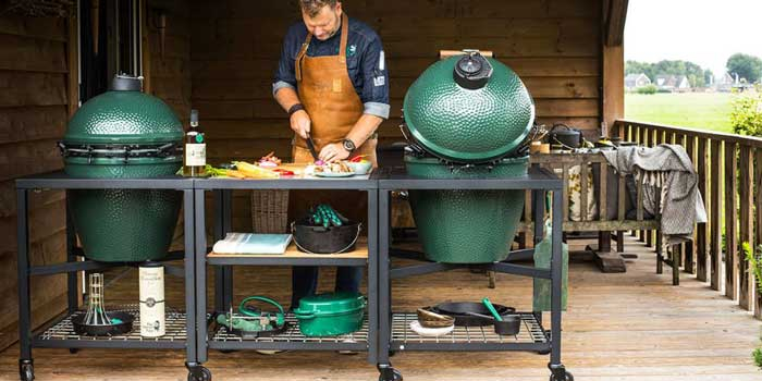 Table EGG Frame pour barbecue Big Green Egg Ambiance