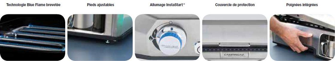 Caractéristiques de la Plancha à gaz Campingaz Master Plancha EX
