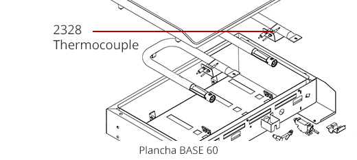 Thermocouple plancha gaz