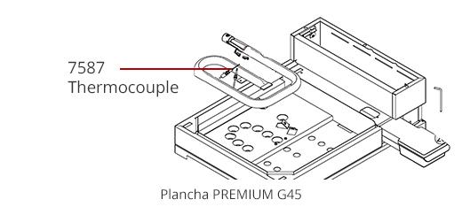 Thermocouple plancha Premium G 45