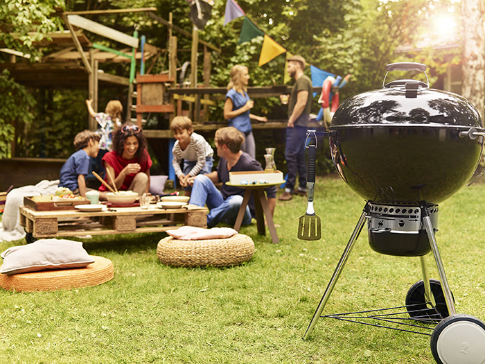 Barbecue Master touch Weber charbon à roulettes