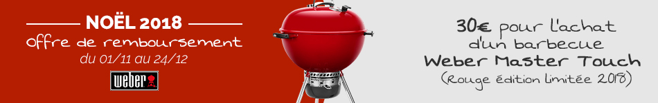 Barbecue Weber Master Touch Rouge Edition Limitée