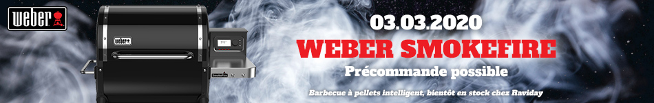 Barbecue à pellets Weber Smokefire le 03 Mars chez Raviday