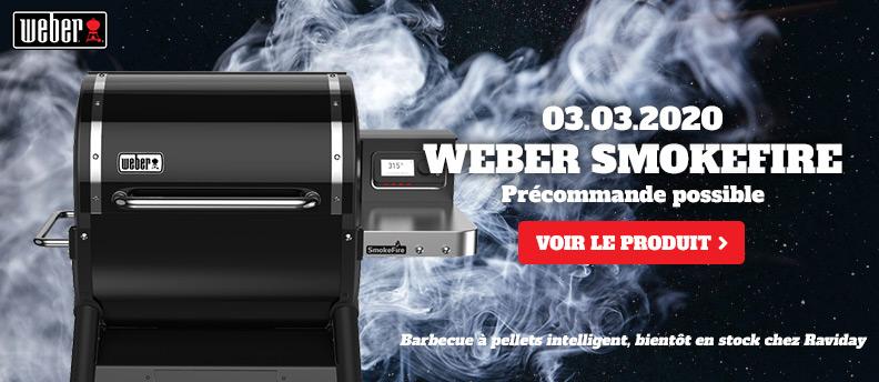 Weber SmokeFire arrive le 3 mars 2020 chez Raviday Barbecue