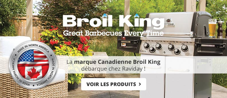 Barbecues Broil King chez Raviday
